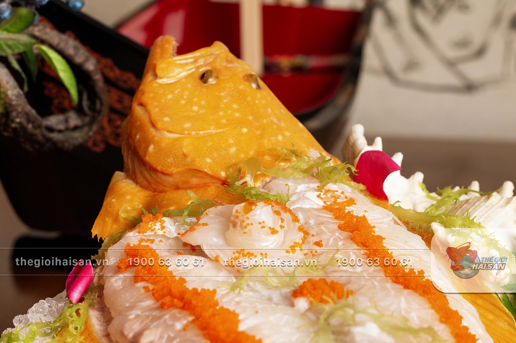 Món cá bơn tươi ngon vừa được chế biến