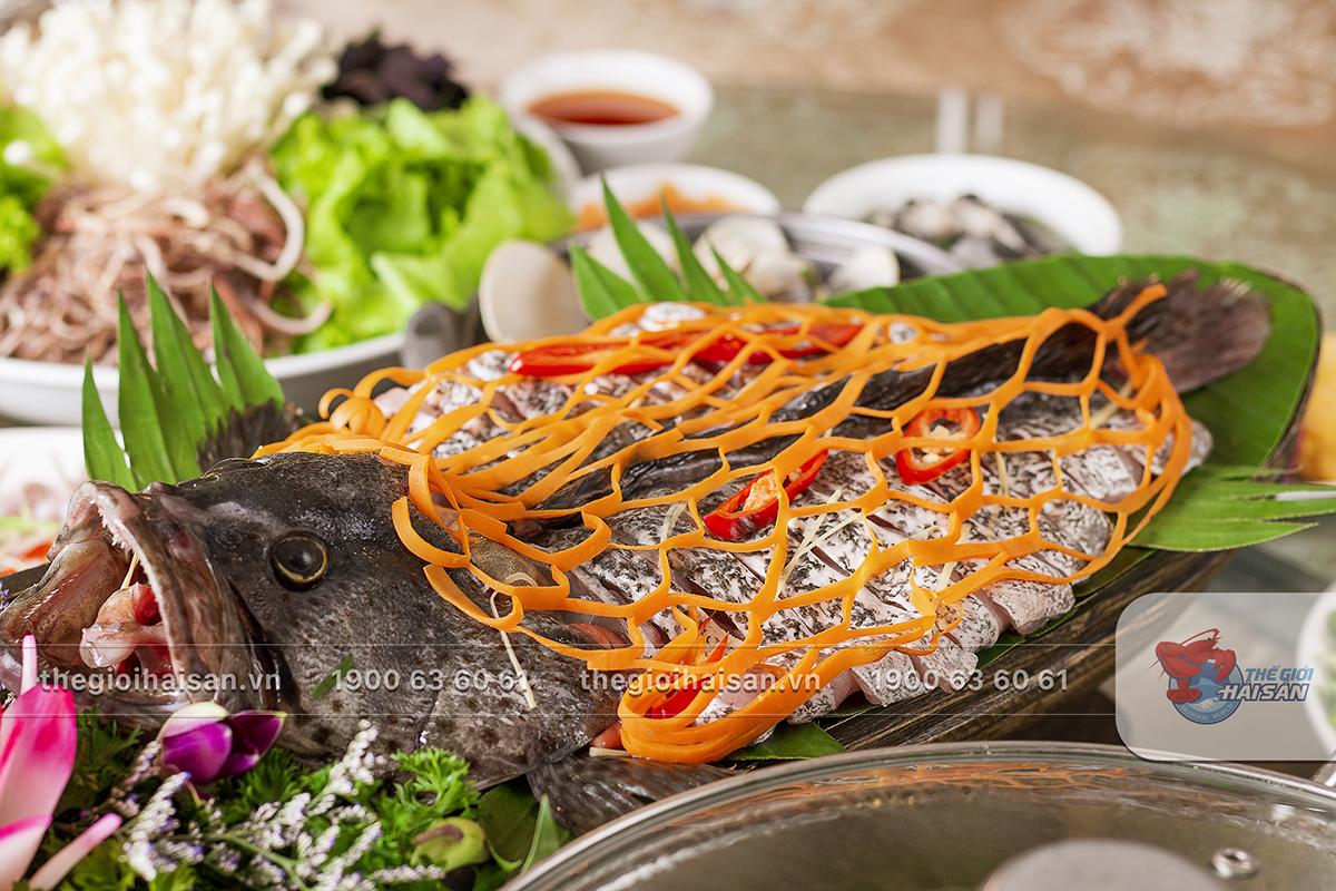 Cá Song đen ưu đãi tại Thế giới hải sản Vũ Trọng Khánh
