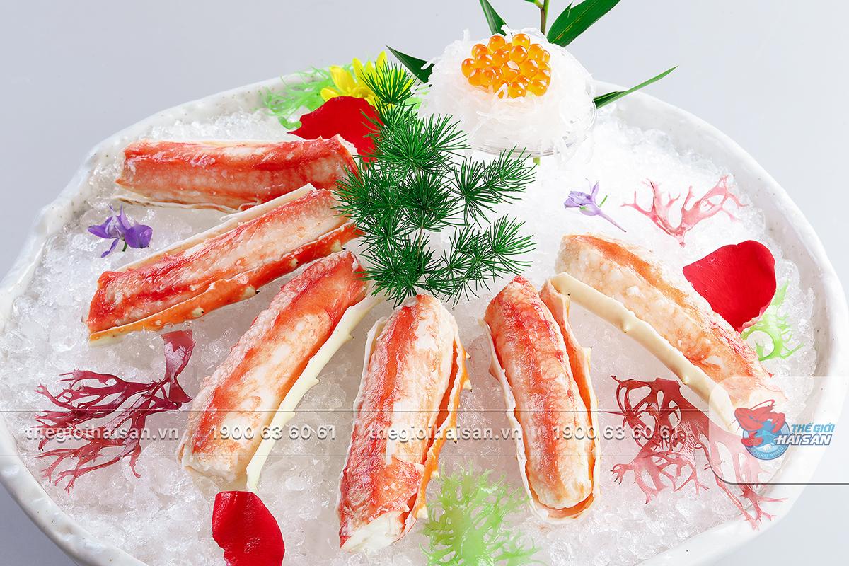 Sashimi Cua King tại Thế giới hải sản
