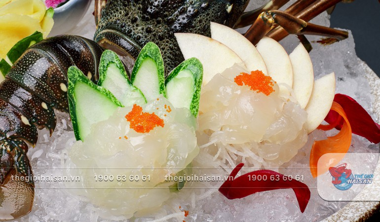 Sashimi Tôm hùm xanh tươi ngon